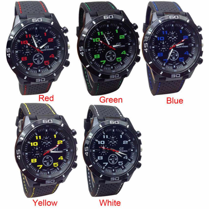 2018 New Aimecor Fashion Gemius Army Racing Force Military Sport Men Officer Silicone Band Watch New Dropshipping L613