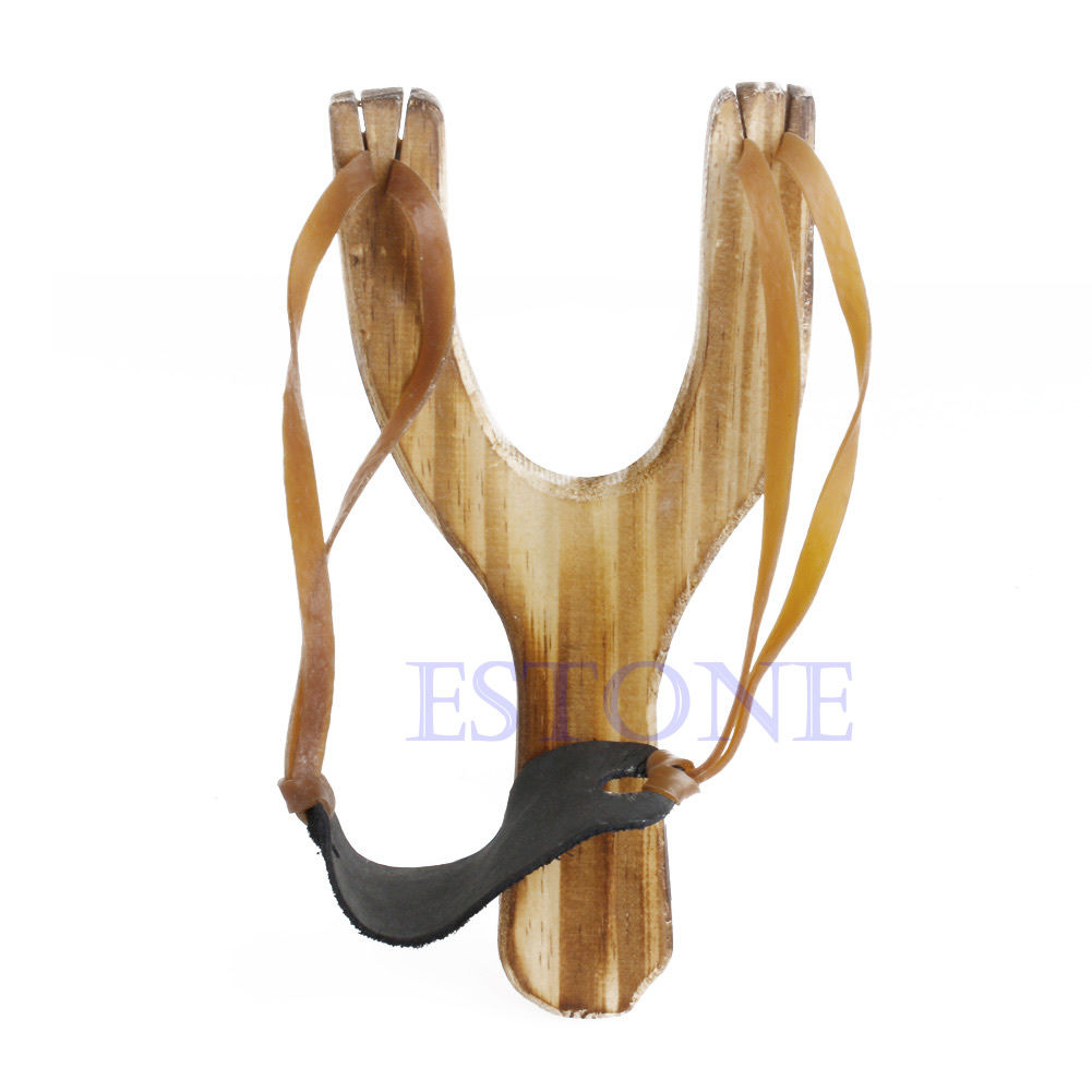 Hot New Style Wood Slingshot Wooden Traditional Toy Wooden Sling Shot