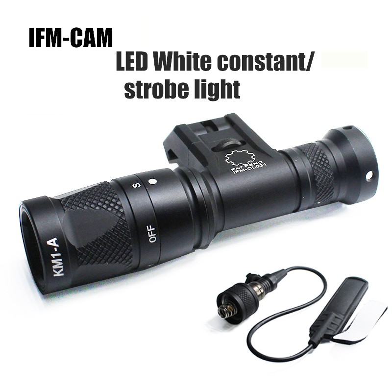 IFM CAM Light Precison Constant Strobe Weaponlight Side Mount Rifle Remote Switch Weapon Tactical Light Picatinny for Hunting-in Weapon Lights from Sports & Entertainment    1