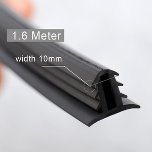 Image 2 - Car Rubber Sound Seal Strip Dashboard Insulation 1.6M U Type Auto Windshield Edges Gap Sealing Strips For Car Accessories