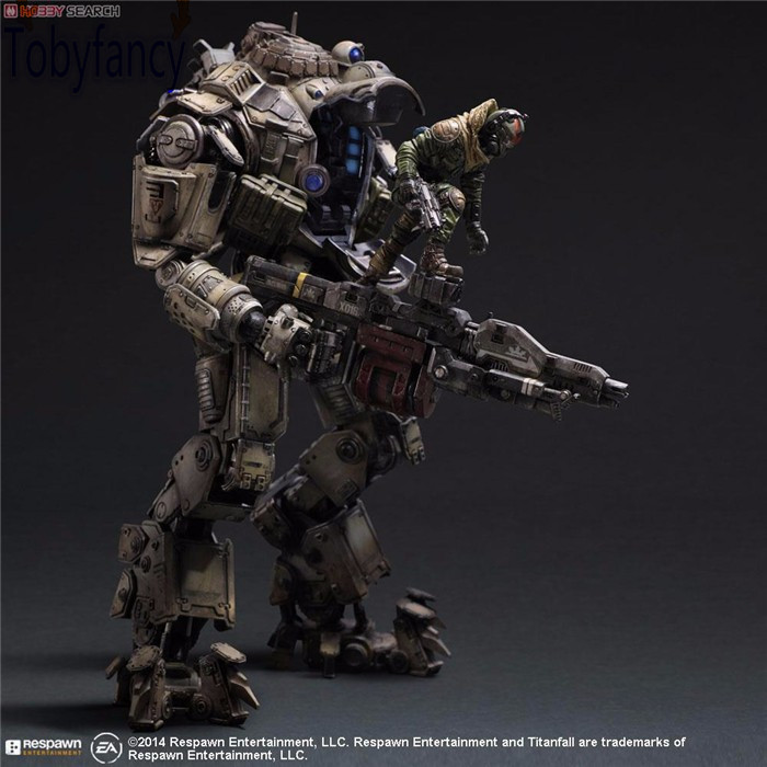 Titanfall Action Figure Play Arts Kai Atlas PVC Toys 270mm Anime Games Model Titanfall Atlas Playarts Kai Tobyfancy collins picture atlas