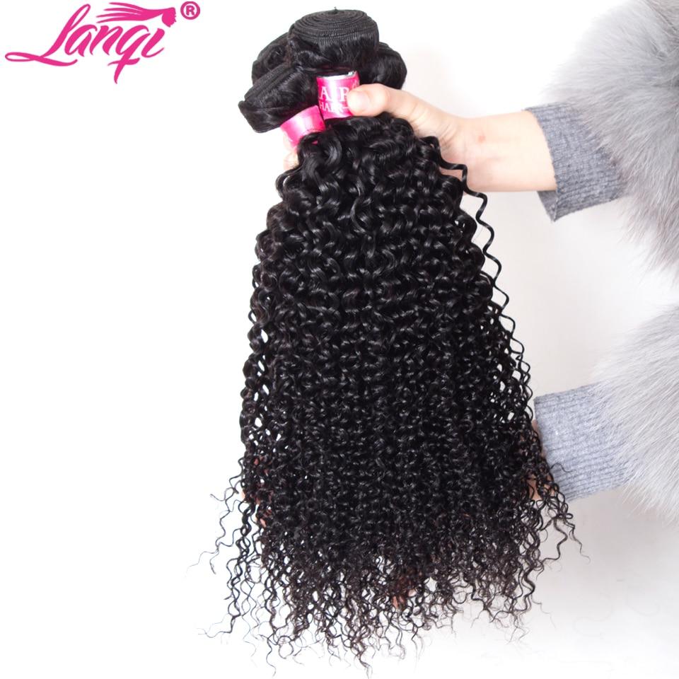 Image 4 - mongolian afro kinky curly hair bundles with closure human hair bundles with closure Peruvian brazilian hair weave with closure-in 3/4 Bundles with Closure from Hair Extensions & Wigs