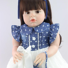 Hot Sale 28″ 70CM Silicone Reborn Baby Dolls For Sale Clothing Model Girls Lifelike Realistic Classic Toys Dolls For Girls