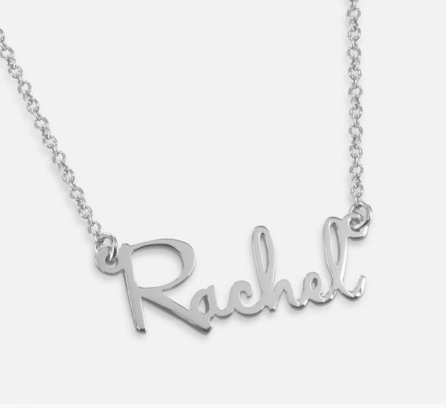 Wholesale Sterling Silver Name font b Necklace b font Nameplate Pendent Personalized Letter font b Jewelry