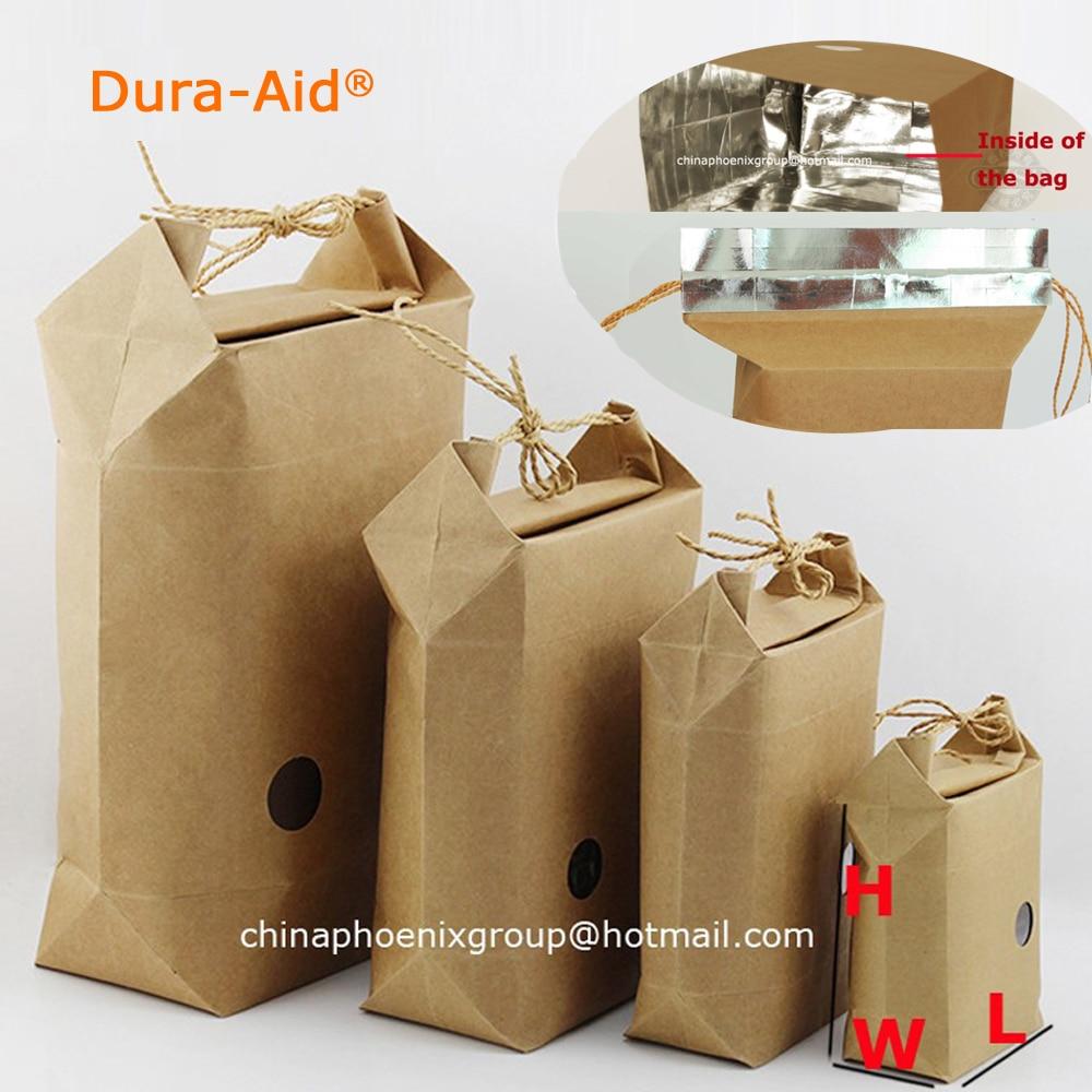 50pcs size L9 W5 H11cm rice paper packaging rice paper bags for weddings kraft paper bag