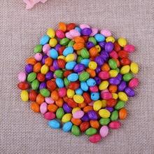 Fashion Colorful Straight Hole Rice Beads 140pcs/Lot Wholesale Beautiful European Acrylic Candy Color Bead DIY Jewelry Making