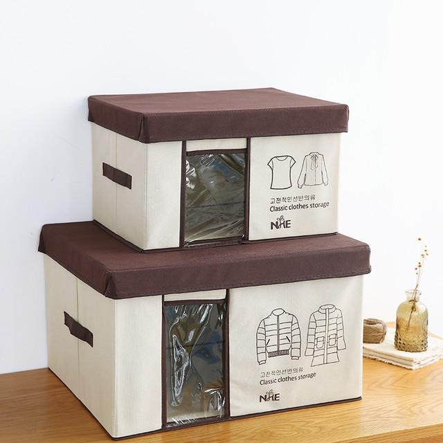 Ordinaire New Clothes Wrapped Storage Box Simple Japanese Style Window Type Clothing Storage  Box Practical Utility Storage