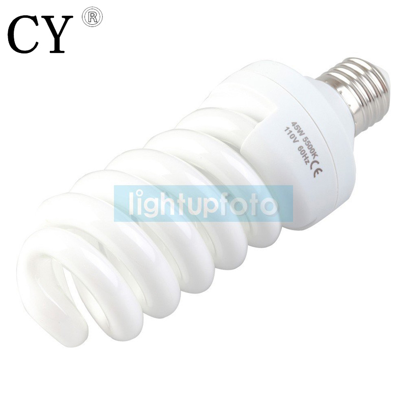 110V Photo Daylight Fluorescent Bulb 45W 5500K PSLB1A studio continuous lighting light bulb photography accessory
