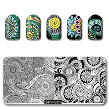 10Pc SPV(1-10) Rectangle Nail Stamp Plates Set 10Style-Plates Nails Art Stamping Plate DIY Stamp Template Nail Stencil Tool Kits недорого