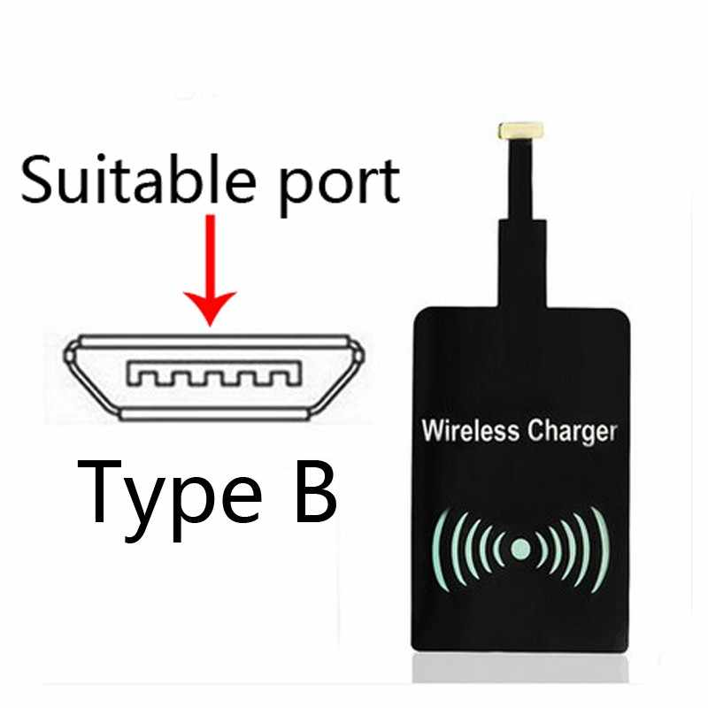 Universal Qi Wireless Charger Standard Smart Charging Adapter Receptor Coil Receiver For iPhone 5 5C 5S 6 6S 7 7plus For Android