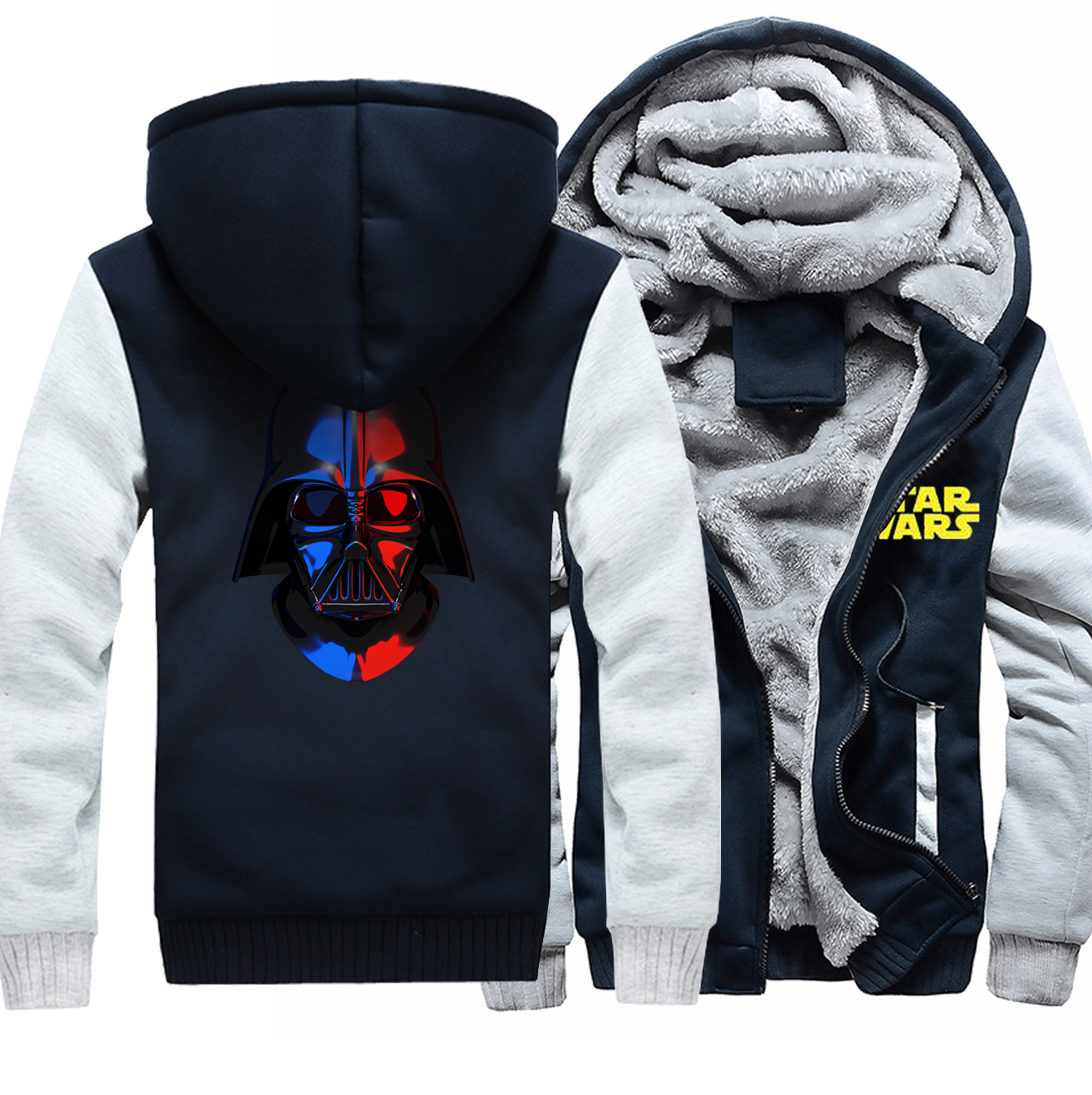 The Avengers Anime Hoodies For Men 2018 Winter Thick Zipper Raglan Jacket Cosplay Coat Star Wars Printed Sweatshirt Hot Sale Top