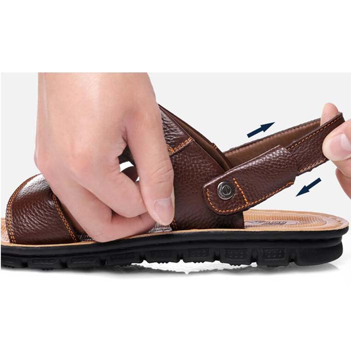 Fashion New Mens Sandals Summer Casual Beach Shoes Soft Slippers Flats Size 45 46 47 men0019 5