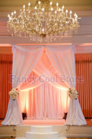 10' x 10' x 10' white square wedding pavillion including white drape and pipe stand wedding stage decoration