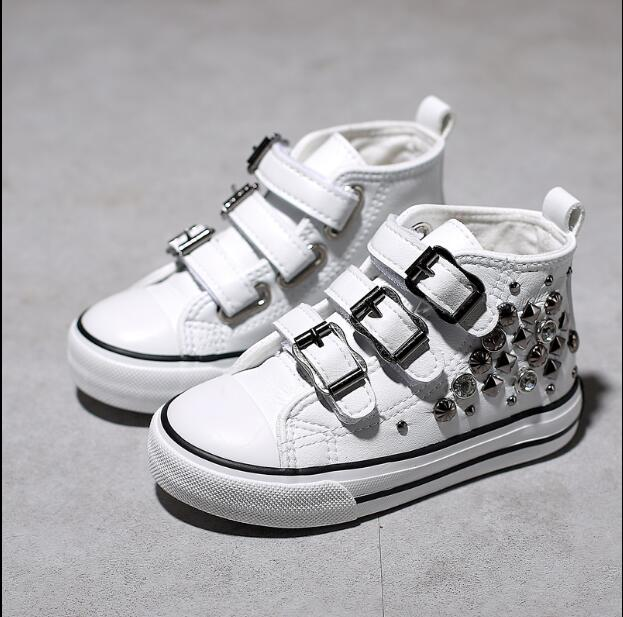 Children's Shoes High-Top Fashion New Canvas Martin-Boots Liu Ding