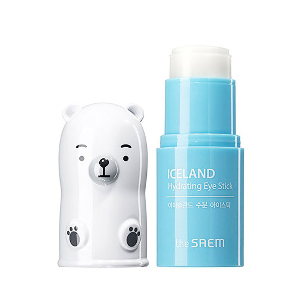 THE SAEM Iceland Micro Hydrating Eye Stick Eye Cream Skin Care Moisturizing Anti-Aging Anti-Puffiness Essence Korean Cosmetics