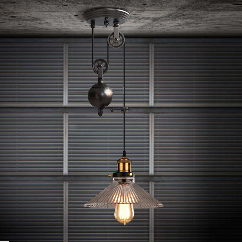 Gl Pendant Light For Home Black Colorful Lights Dinning Room Rustic Rope Lamp Edison Kitchen Bar In From