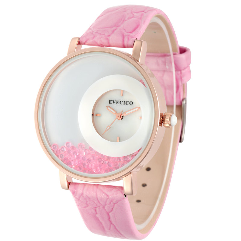 Rhinestone shell surface pointer strap lady brief waterproof women s the trend of the gift watch
