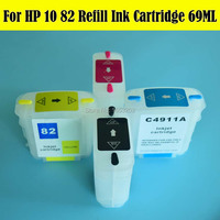 Free Shipping Refill Ink Carteidge For HP10 82 With Update Permanent Chip For HP Designjet 500
