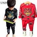 children clothing sets casual style printing tiger long-sleeved sweater+pants two piece sport suit boy's clothes for 2016 spring