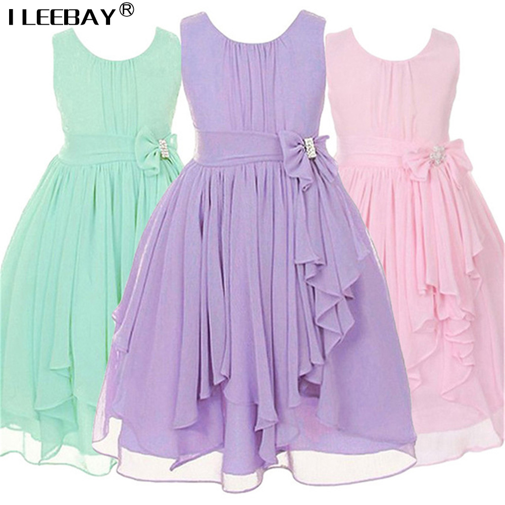 Baby Girl Clothes Girls Dresses for Wedding Teenager Irregular Ruffled Party Princess Dress Kids Chiffon Children Robe Fille flower baby dresses girls kids evening party dresses for girl clothes infant princess prom dress teenager children girl clothing