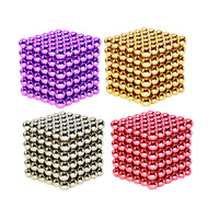 5mm 216pcs Magnetic Cube Balls Magic Puzzle Toys Relieve Anxiety Autism ADHD For Child Magic Cube