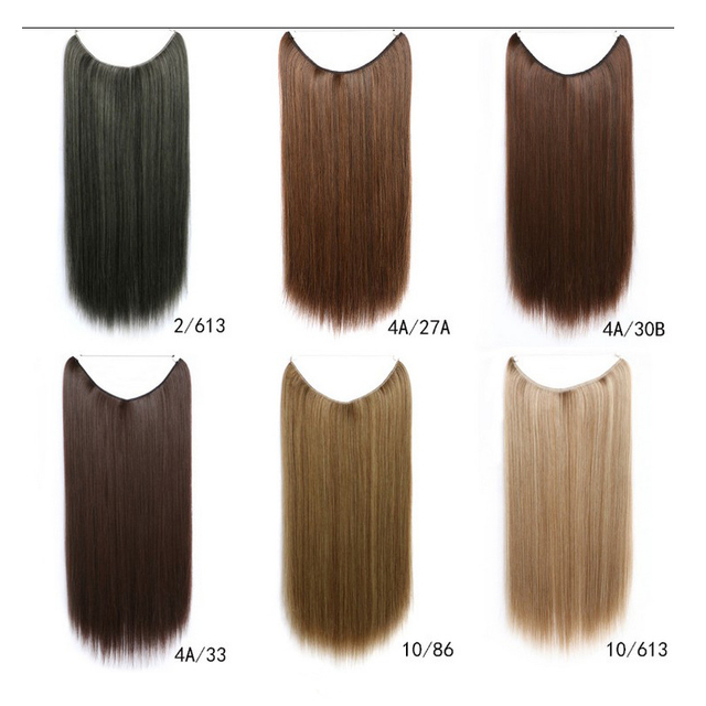 Invisible wire flip in apply full set synthetic straight hair invisible wire flip in apply full set synthetic straight hair extensions no clip halo hair piece pmusecretfo Images