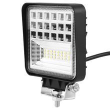 9-30 в автомобиль 126 Вт супер яркий квадратный светодиодный фонарь для вождения противотуманных фар для внедорожников грузовик стабильный светодиодный свет бар