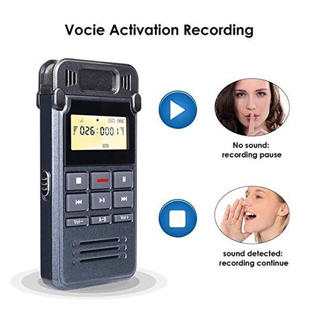 Digital Voice Recorder Noise Cancelling Usb Lade Vorträge Interviews Digitale Tragbare Mp3 Player Diktiergerät Voice Recorder Sound Audio Mikrofon