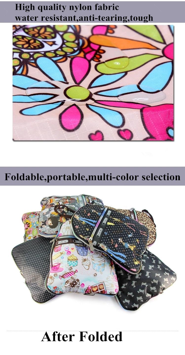 Visoka moda vodootporna najlon veliki kapacitet sklopivi cvjetni - Torbe za prtljagu i putovanje - Foto 6