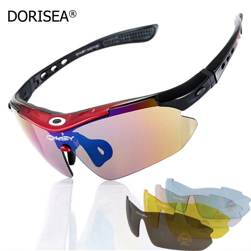 Professional HD Watching Fishing Glasses Polarizer UV400 Outdoor Sunglasses Eyewear Windproof With Mypia Frame 5 lens