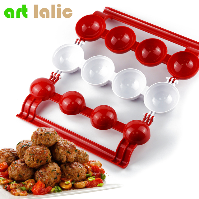 1pc new meatballs maker meat fish ball mold christmas kitchen homemade stuffed meatballs cooking tool - Christmas Meatballs
