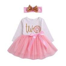 57cd50c8a006c Vêtements de petite fille 1st 2nd 3rd D anniversaire Tutu Robe Barboteuse  Robe Bandeau Outfit