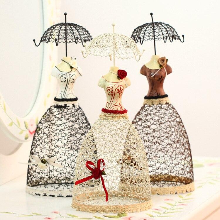 European ladies dress jewelry display rack empress charm earrings hanger resin craft home decoration birthday gifts