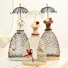 Европейские дамы платье ювелирные изделия стеллаж императрица очарование серьги вешалка смолы ремесла украшения дома подарки на день рождения