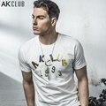 AK Marca CLUB de Hombres T-shirt Estilo de La Vendimia Estéreo de Casa de Color insignia de la Impresión Camiseta de Manga Corta Camiseta Ocasional de Los Hombres T-shirt 1600014