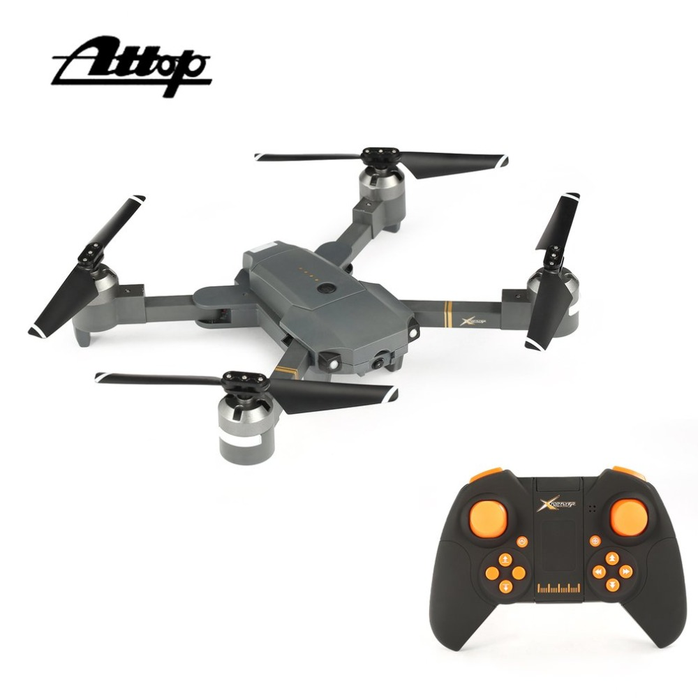 Attop XT-1 WIFI 2.4G FPV Drone Camera 3D Flip Altitude Hold Foldable One-key Take-off/Landing Headless Mode RC Quadcopter trendy thin heel pointed toe women polka dot pump spring slip on high heels black white stiletto 2018 brand fetish factory shoes