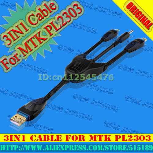 Free Shipping+100%original new 3IN1 Cable for MTK PL2303 by GPG+Free Shipping