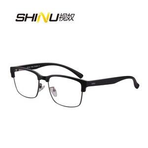 Image 5 - SHINU marki progresywne wielu ogniskowa obiektywu okulary do czytania pół ramką zobacz w pobliżu dalekiego + 100 + 150 + 200 + 250 + 300 + 350 SH018