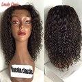 Необработанные Виргинский Бразильский Странный Вьющиеся Парик Бесклеевого Полный Шнурок Человека волос Парики Для Чернокожих Женщин Вьющиеся Фронта Шнурка человеческих волос парики