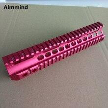 цена на Hunting Accessories  10'' Red Handguard Picatinny Rail Tactical Handguard Rail System AR-15 M16 M4 Handguard