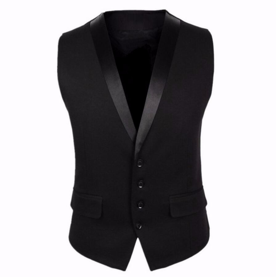 6.1 Black Men Suit Vest Four Buttons Grey Men\'s Fashion Wedding Waistcoat Single Breasted Mens Sleeveless Jacket