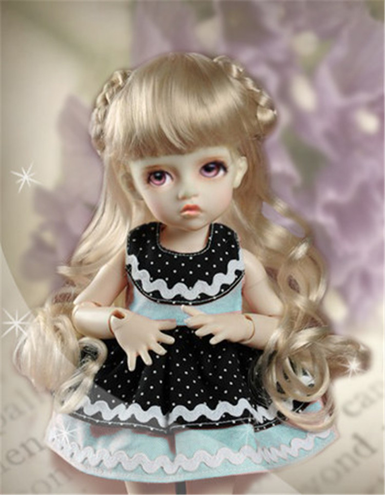 1/6 Yosd doll wig Celine Long Wig  Syntheic mohair BJD wig SD DZ Lati doll accessories 1 6 yosd bjd wig guyomi mohair wig 6 7inch doll accessories
