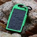 1 Шт. 8000 мАч Portable Solar Power Bank водонепроницаемый Enternal аккумулятор power bank телефон зарядное устройство для Iphone HTC Lenovo Mipad