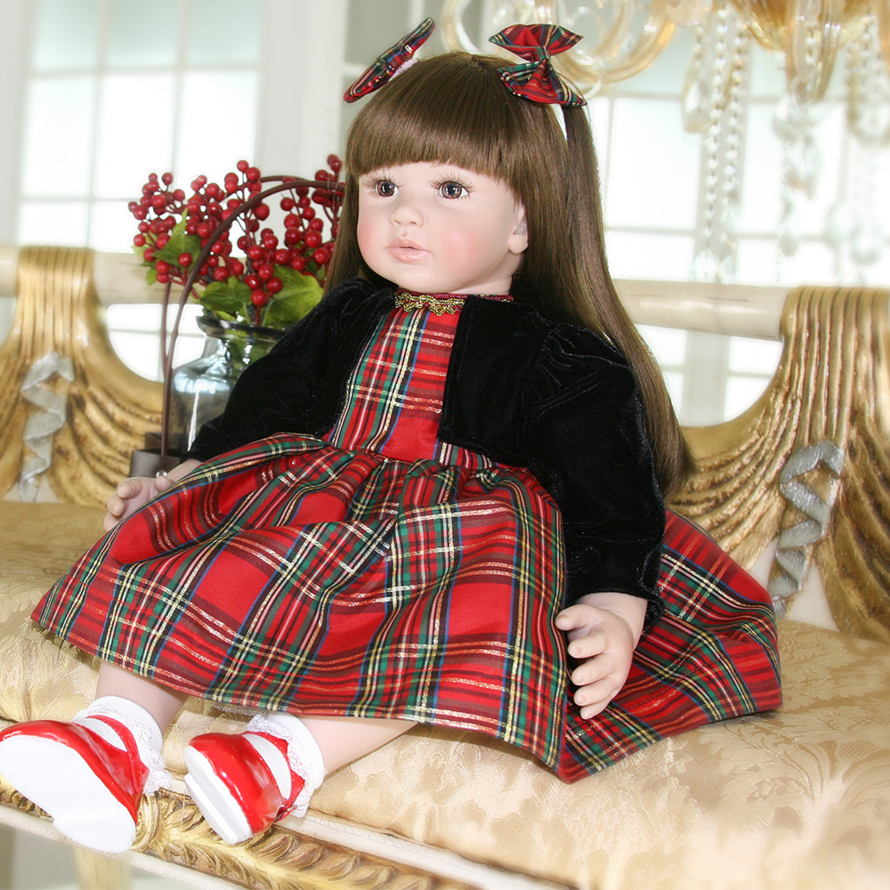 60cm Silicone Reborn Baby Doll Toys Like Real 24inch Vinyl Princess Toddler Babies Dolls Kids Birthday Gift Play House toy60cm Silicone Reborn Baby Doll Toys Like Real 24inch Vinyl Princess Toddler Babies Dolls Kids Birthday Gift Play House toy