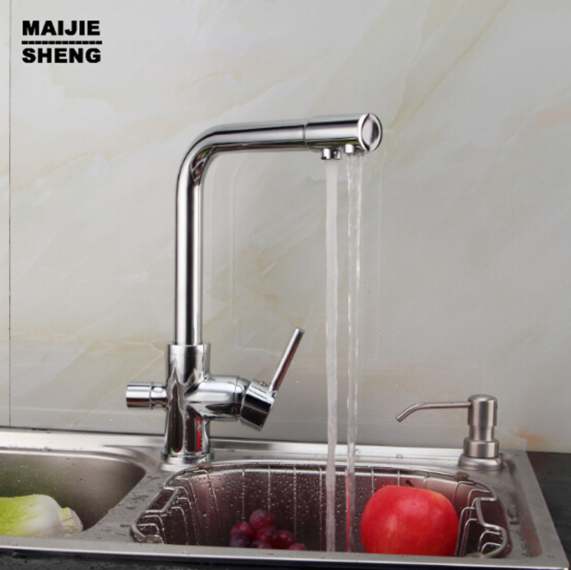 kitchen dinking faucet three way sink mixer tap 2017 Double function kitchen mixer faucet 3 way kitchen faucet sink mixer water senducs kitchen faucet three way kitchen sink mixer tap of quality brass spring kitchen sink faucet hot cold kitchen water tap