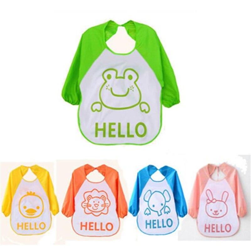 CHAMSGEND Bibs Fashion Kids Baby Cute Kids Child Cartoon Translucent Plastic Soft Baby Waterproof Best seller drop ship APR13