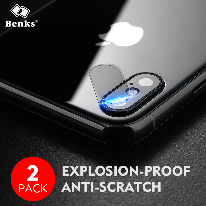 2pcs for iPhone X Camera Glass Benks KR Tempered Glass Screen Protector 9H Hard Anti-Scratch for iPhone X Camera Lens Glass