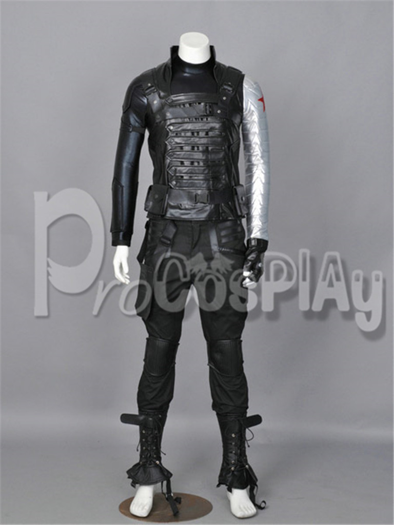 Captain America: The Winter Soldier Bucky Barnes Cosplay Costume Custom mp001611