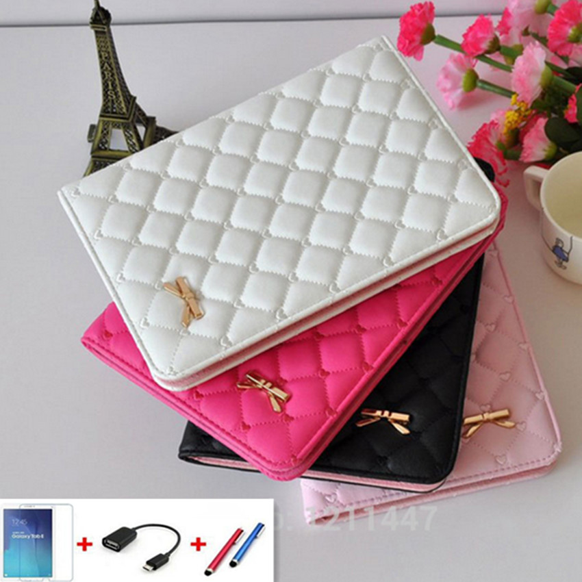 For Apple Ipad 2 3 4 Case Auto Sleep /Wake Up Flip Luxury PU Leather Cover For Ipad 2 Smart Stand Holder Folio Cases+Film+Pen