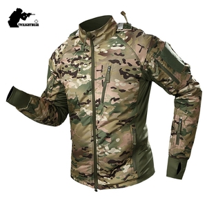 Image 1 - 新しい男性ドイツufproエース戦術ジャケットコート冬軍事cp超軽量防水フリース戦闘ジャケット男性脂肪BF109